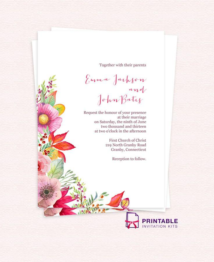 Electronic Wedding Invitation Templates Free