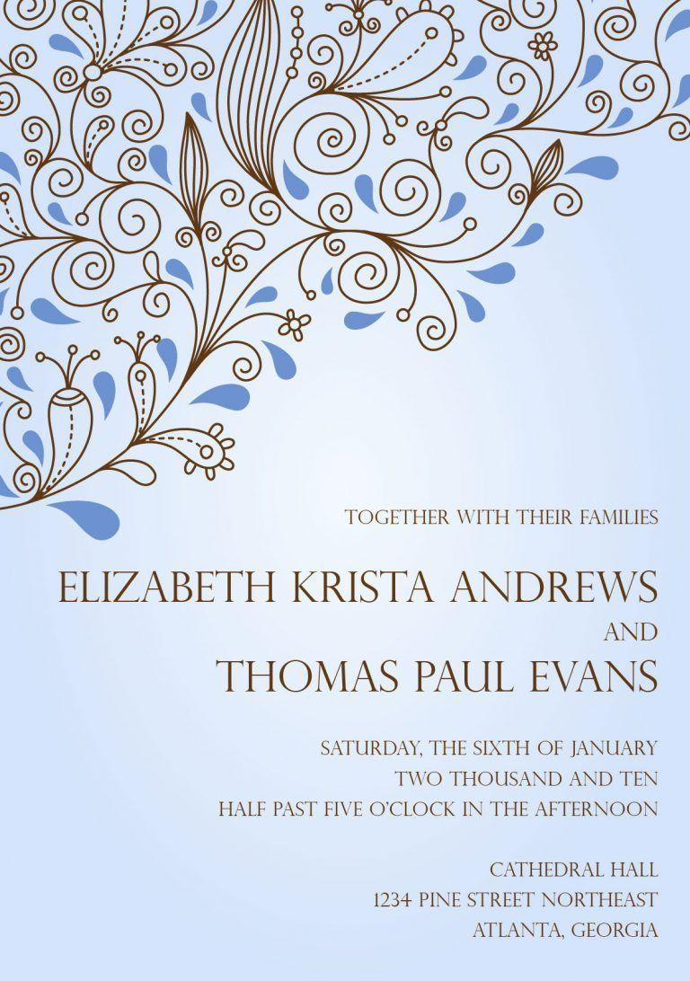 Electronic Wedding Invitation Templates