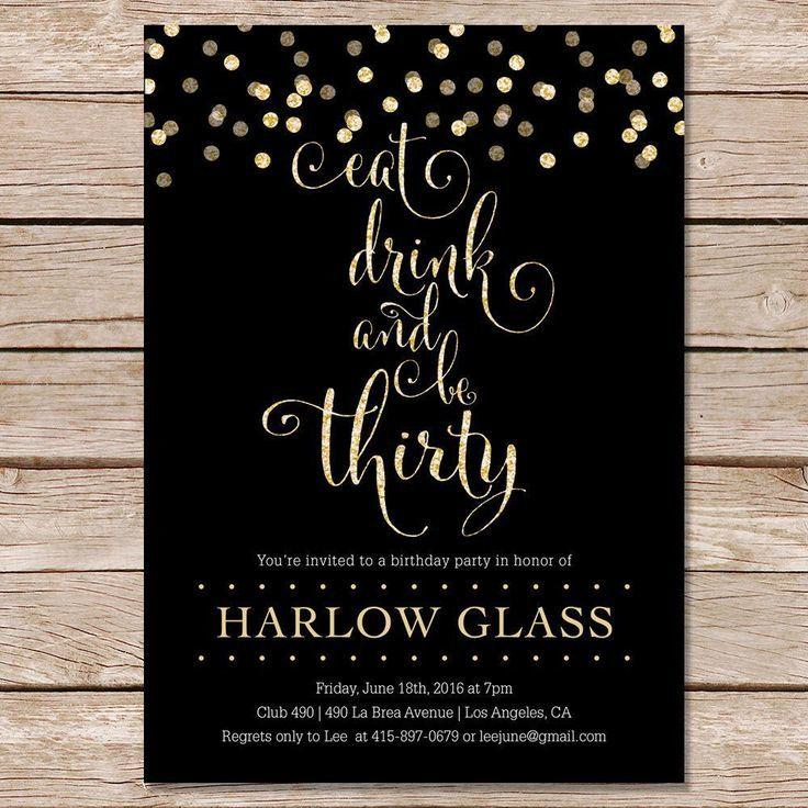 Elegant 21st Birthday Invitations Templates