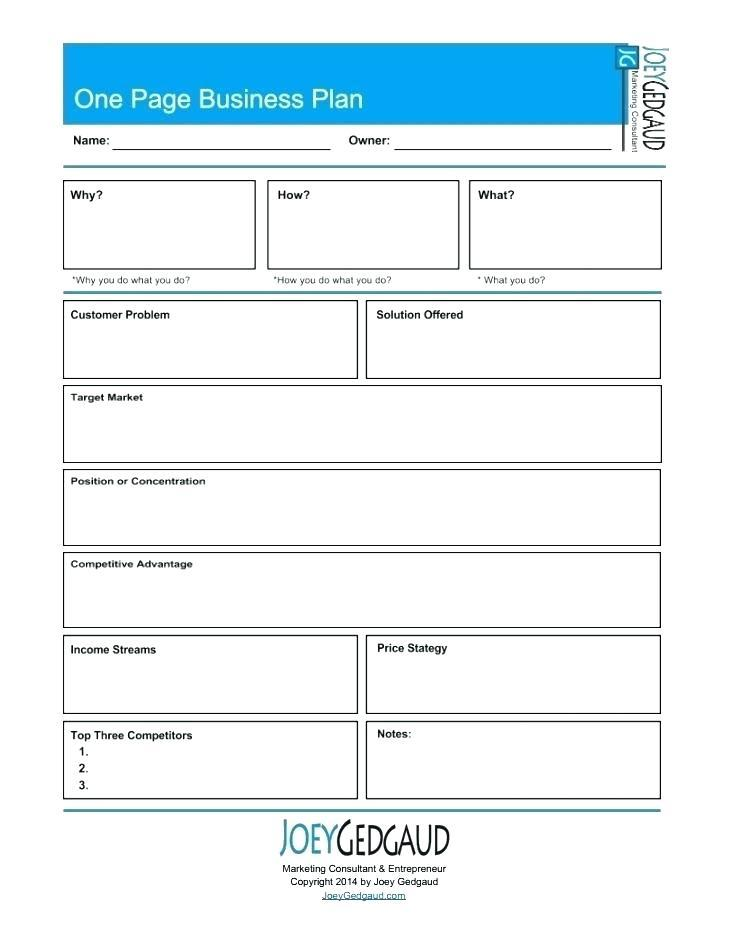 Elevator Pitch Small Business Plan Template