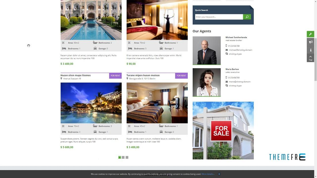 Elisting Responsive Real Estate Joomla Template