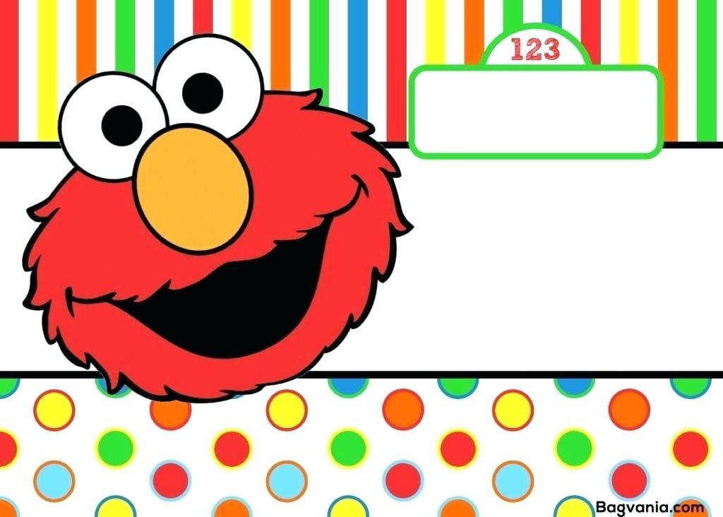 Elmo Birthday Invitations Template Free