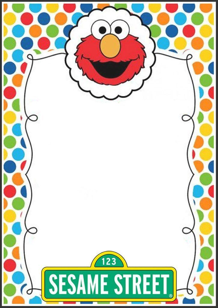 Elmo Birthday Invitations Template