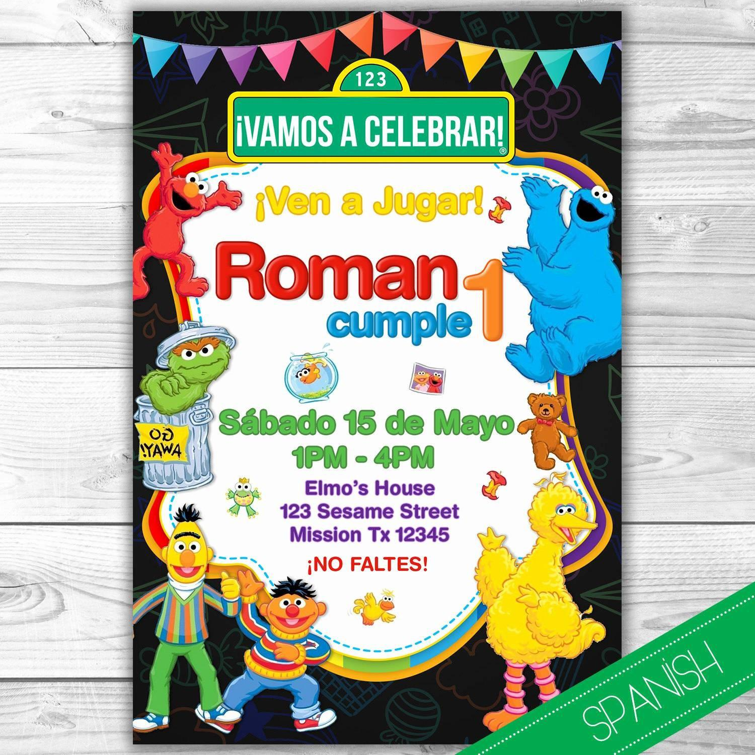 Elmo Invitation Template Free