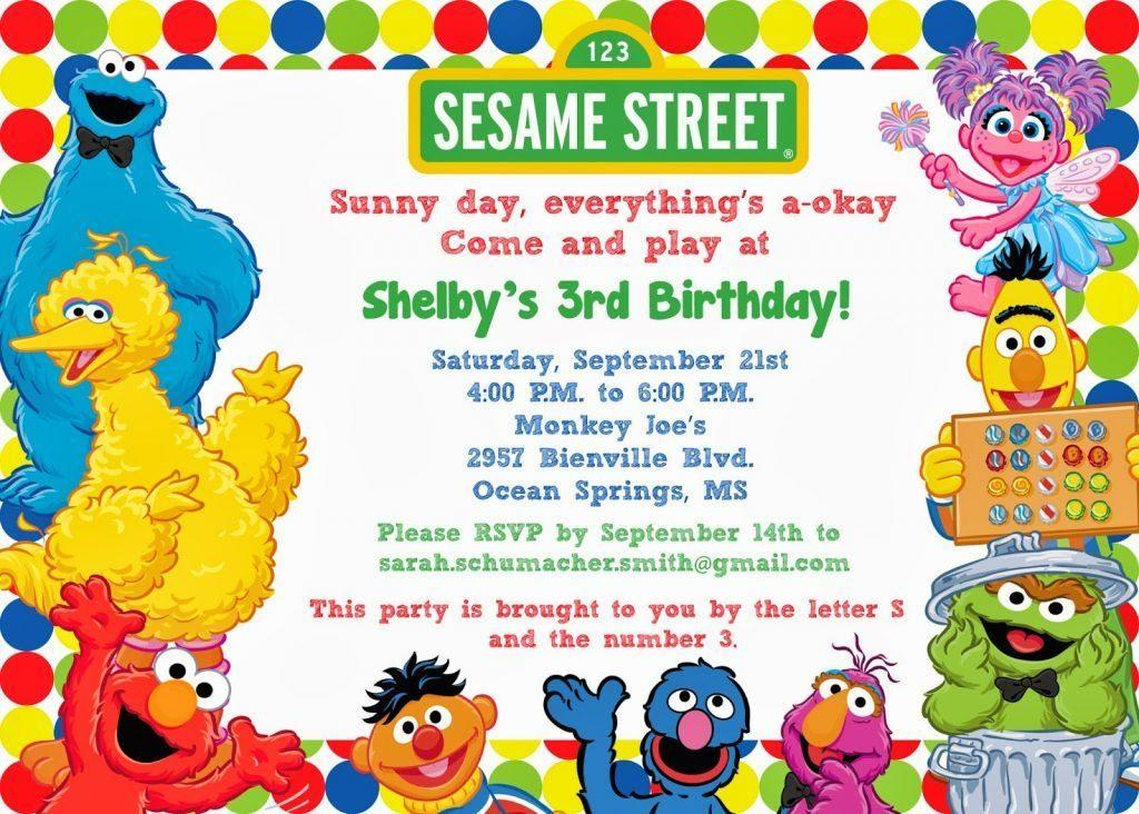Elmo Invitations Templates Free