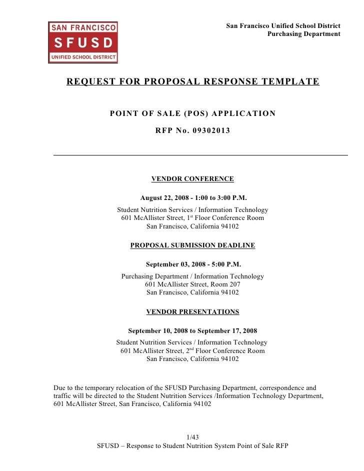 Email Template For Rfp