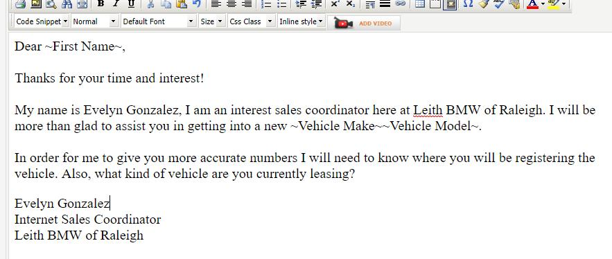 Email Templates For Internet Car Sales