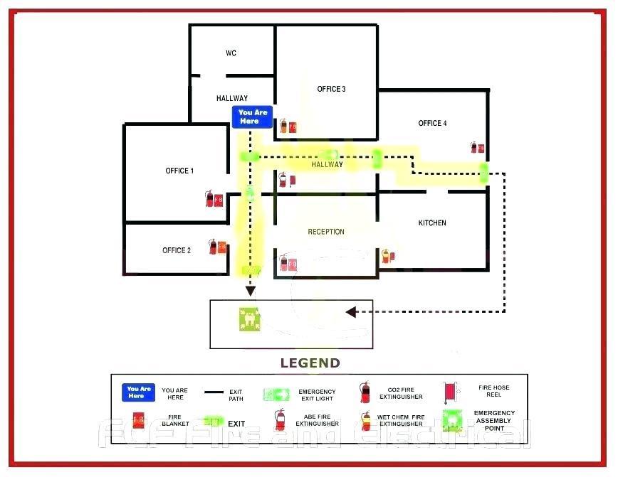 Emergency Evacuation Map Template