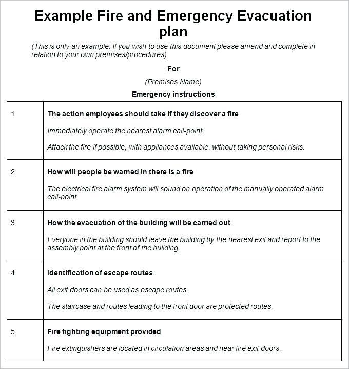 Emergency Evacuation Plan Template For Schools