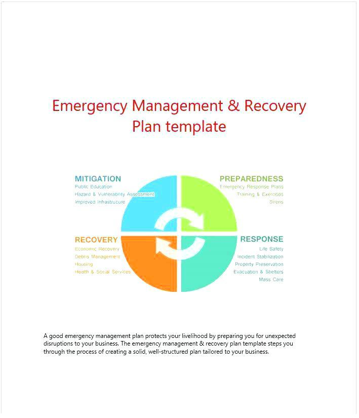 Emergency Management Disaster Recovery Plan Template