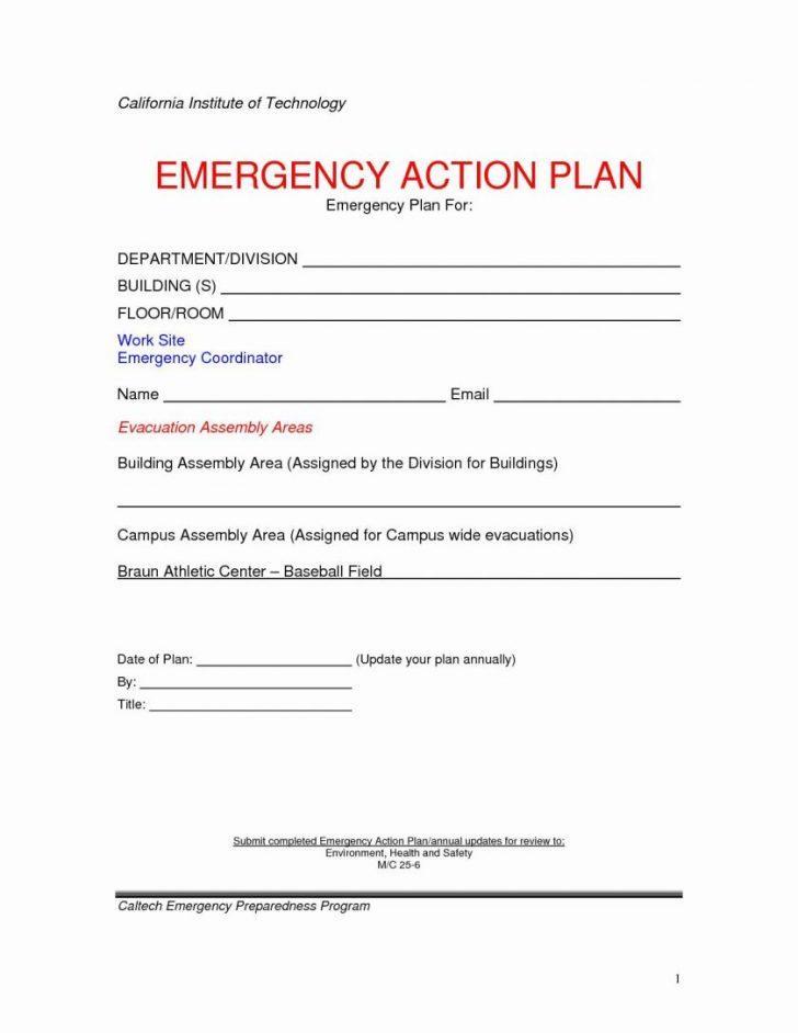 Emergency Preparedness Plan Template For Business