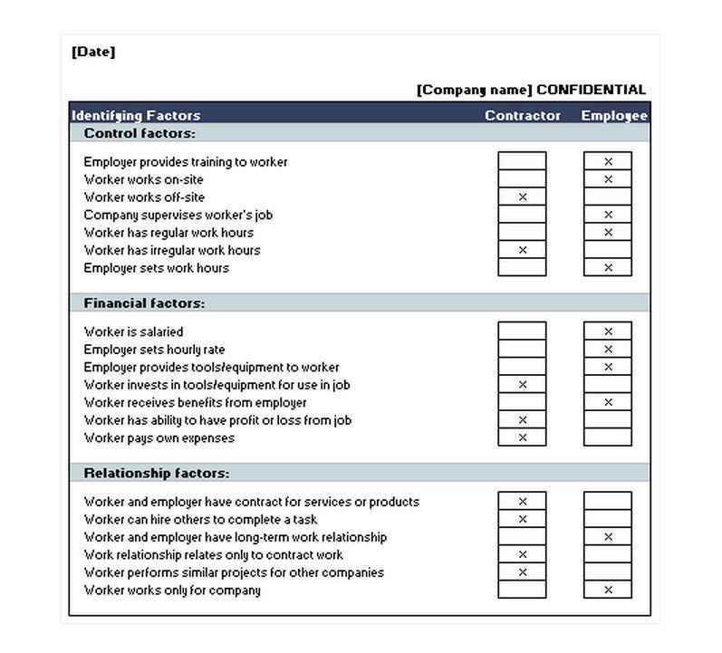 Employee Checklist Template