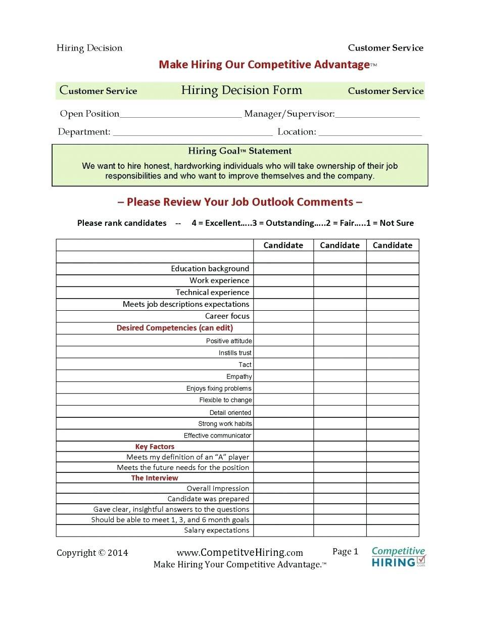 Employee Competency Assessment Sample