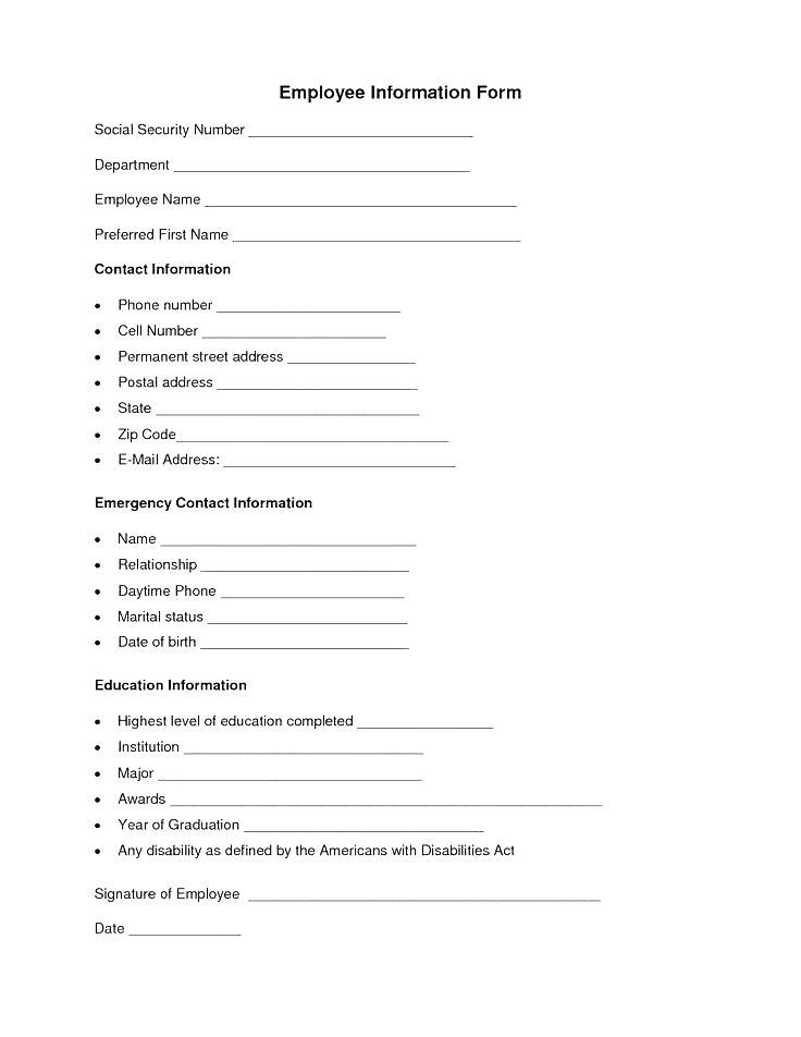 Employee Contract Template Canada