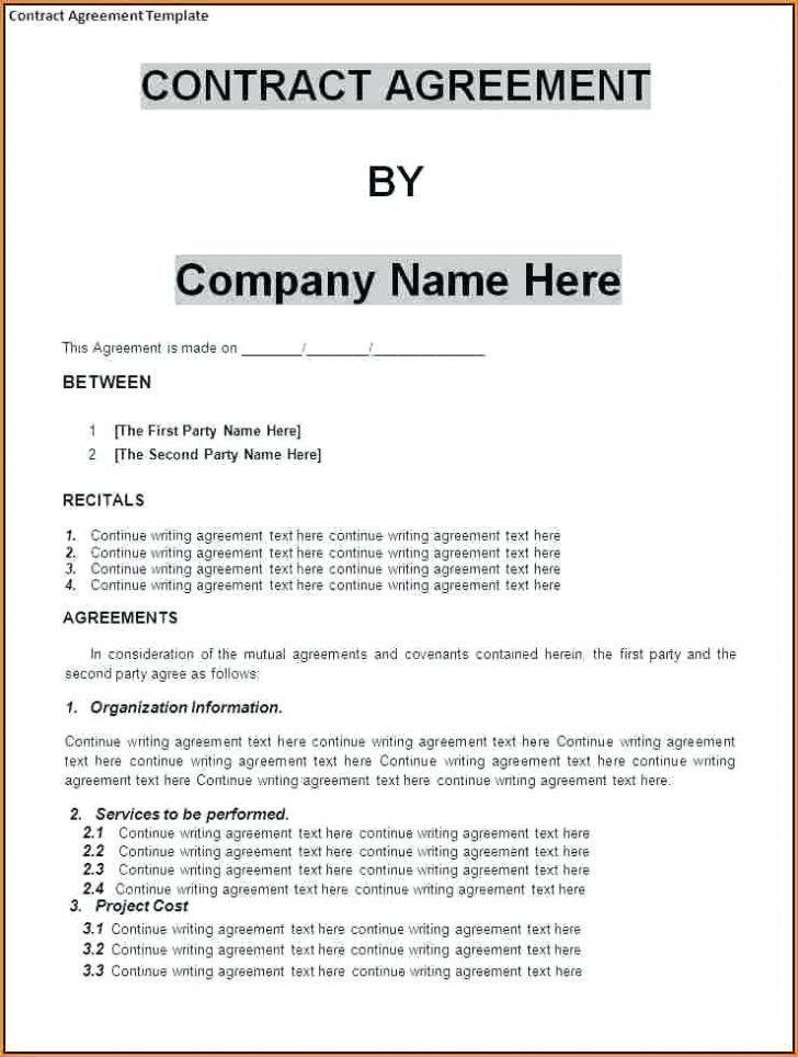 Employee Contract Template Uk