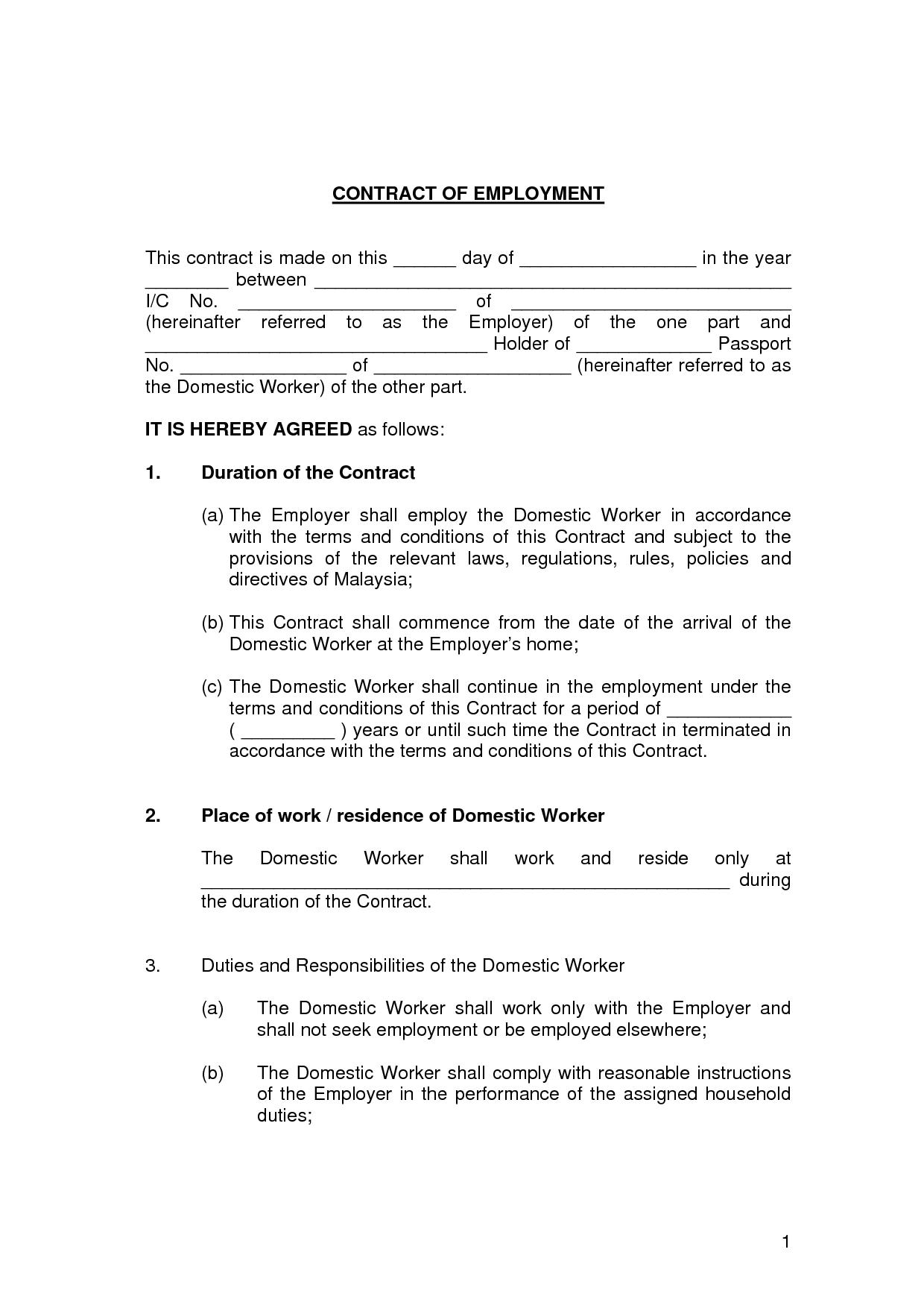 Employee Contract Templates
