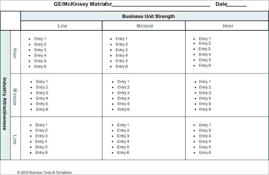 Employee Cross Training Matrix Template