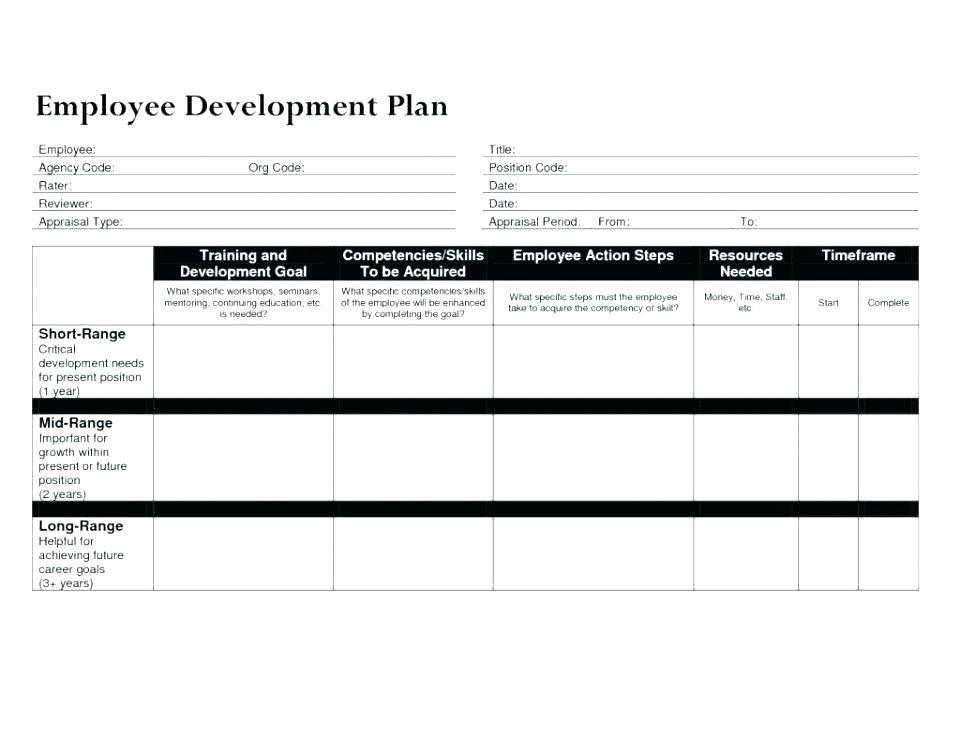 Employee Development Plan Excel Template