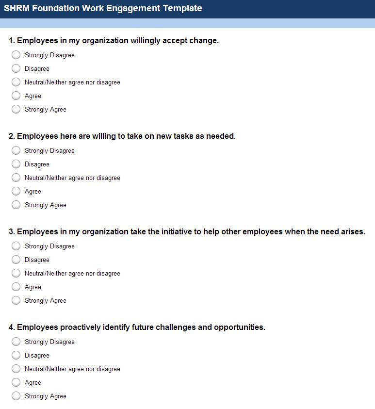 Employee Engagement Survey Templates