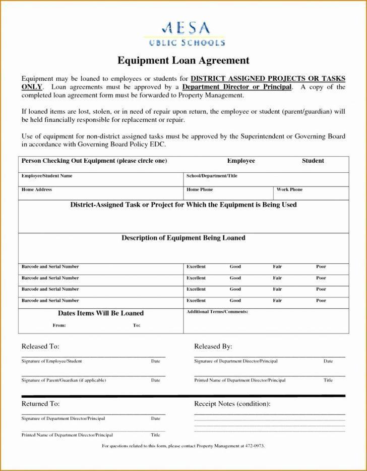Employee Equipment Loan Agreement Template