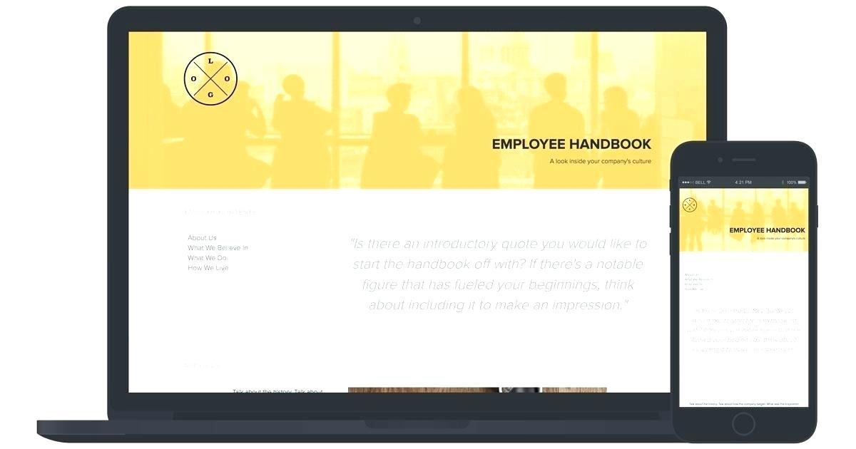 Employee Handbook Design Template