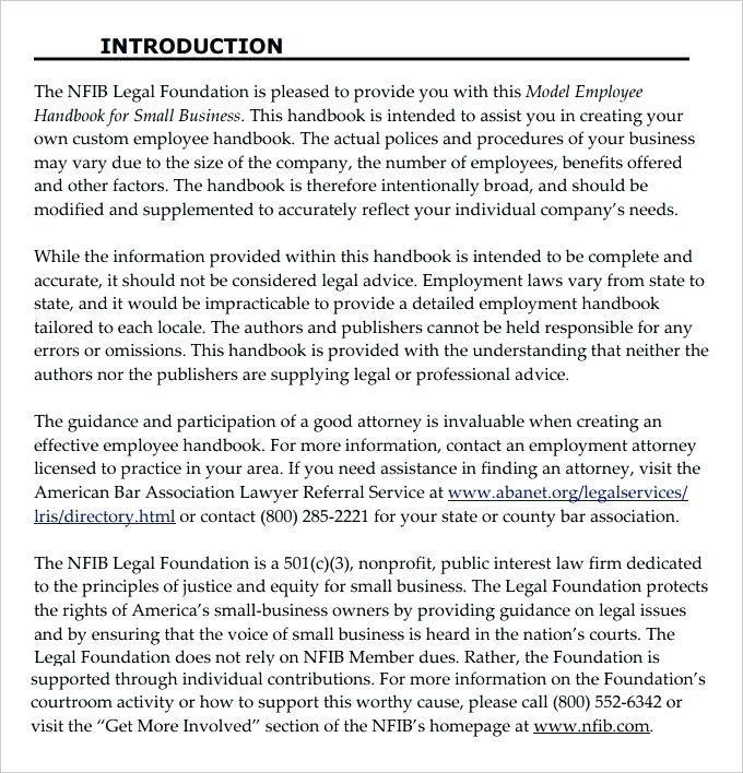 Employee Handbook Template California