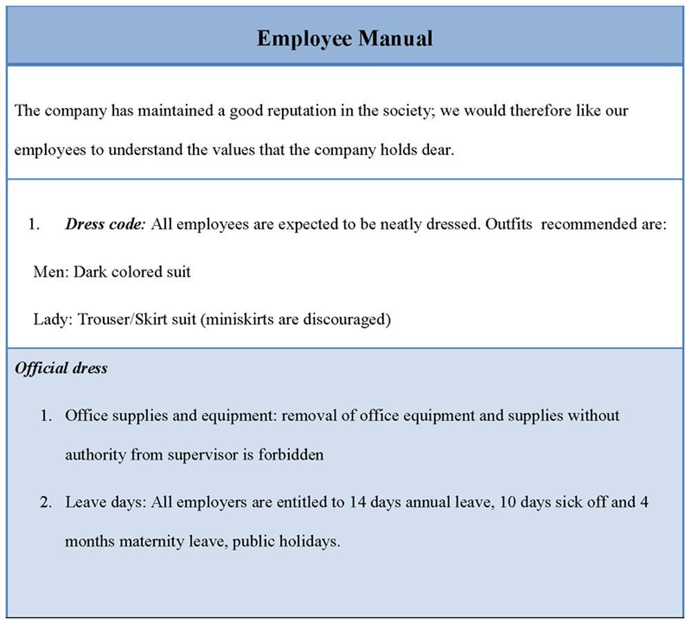 Employee Handbook Template Free Download