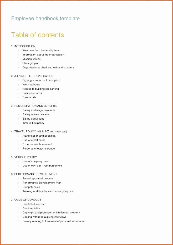 Employee Handbook Template Restaurant