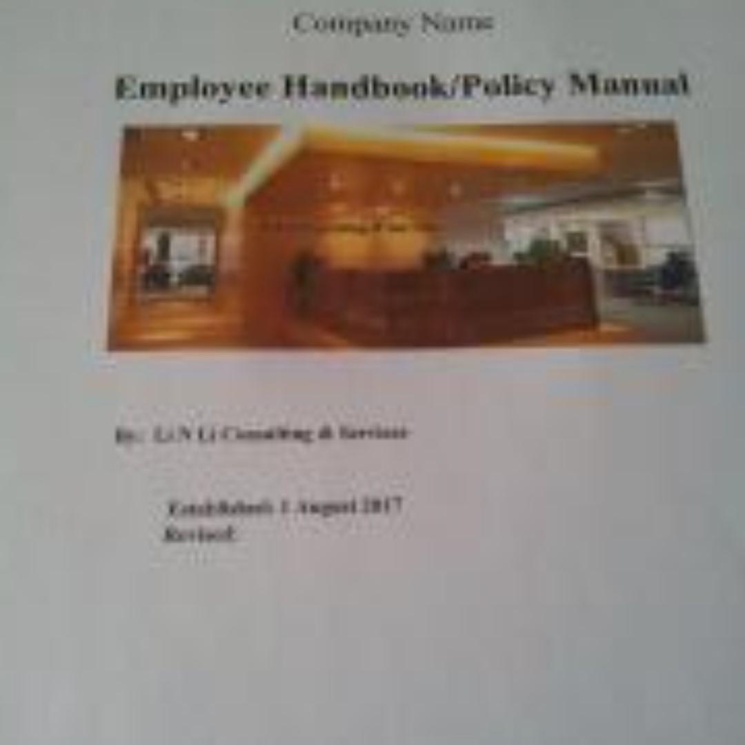 Employee Handbook Template Singapore