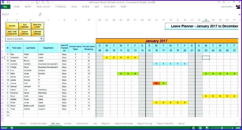 Employee Holiday Calendar 2018 Template
