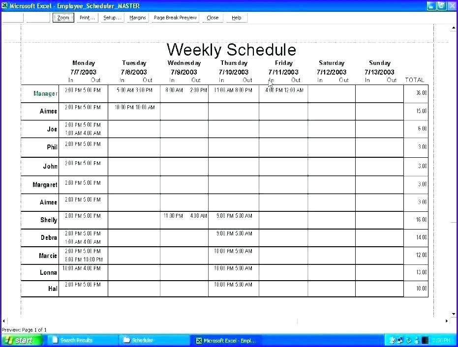 Employee Holiday Calendar Excel Template 2018