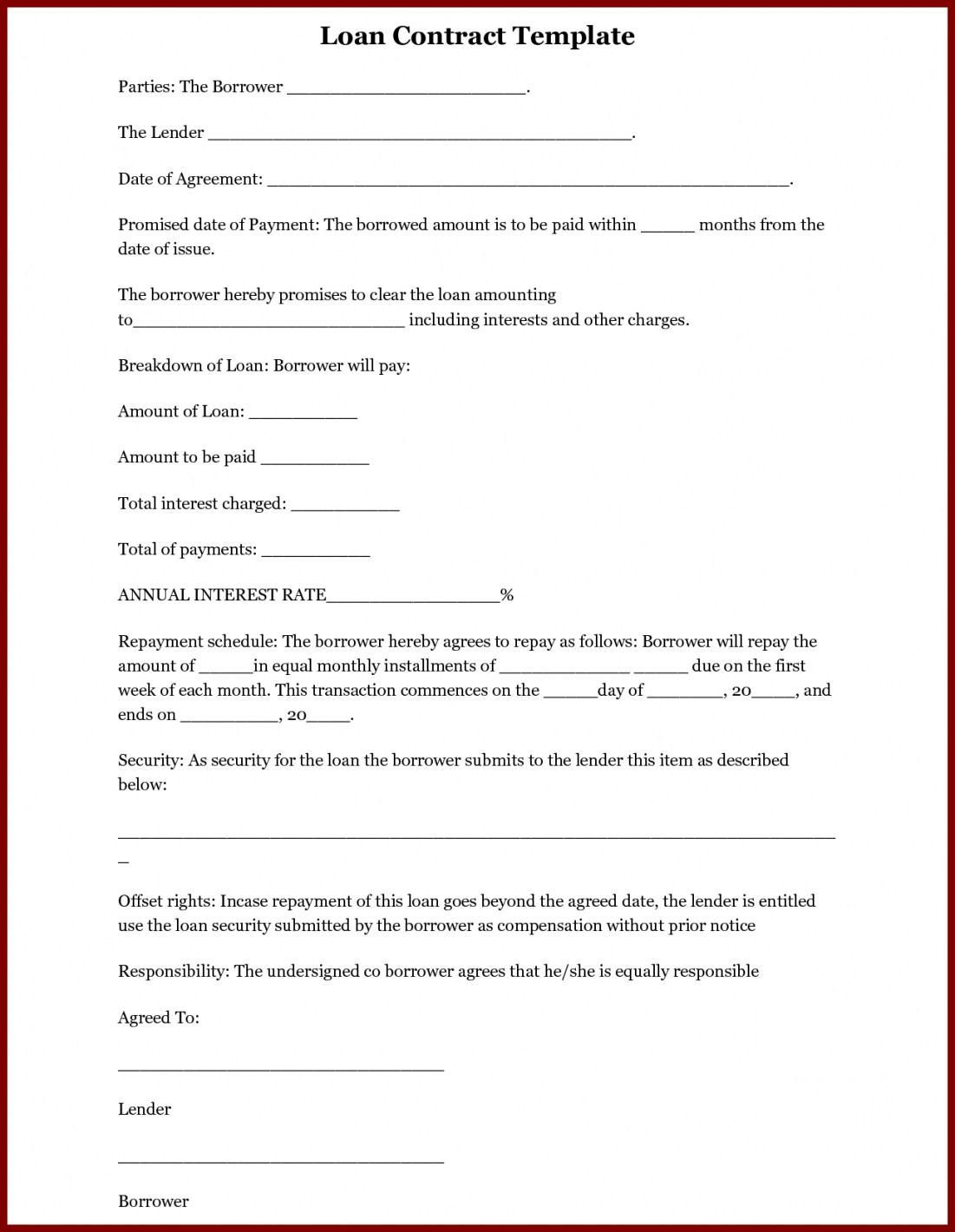 Employee Loan Promissory Note Template