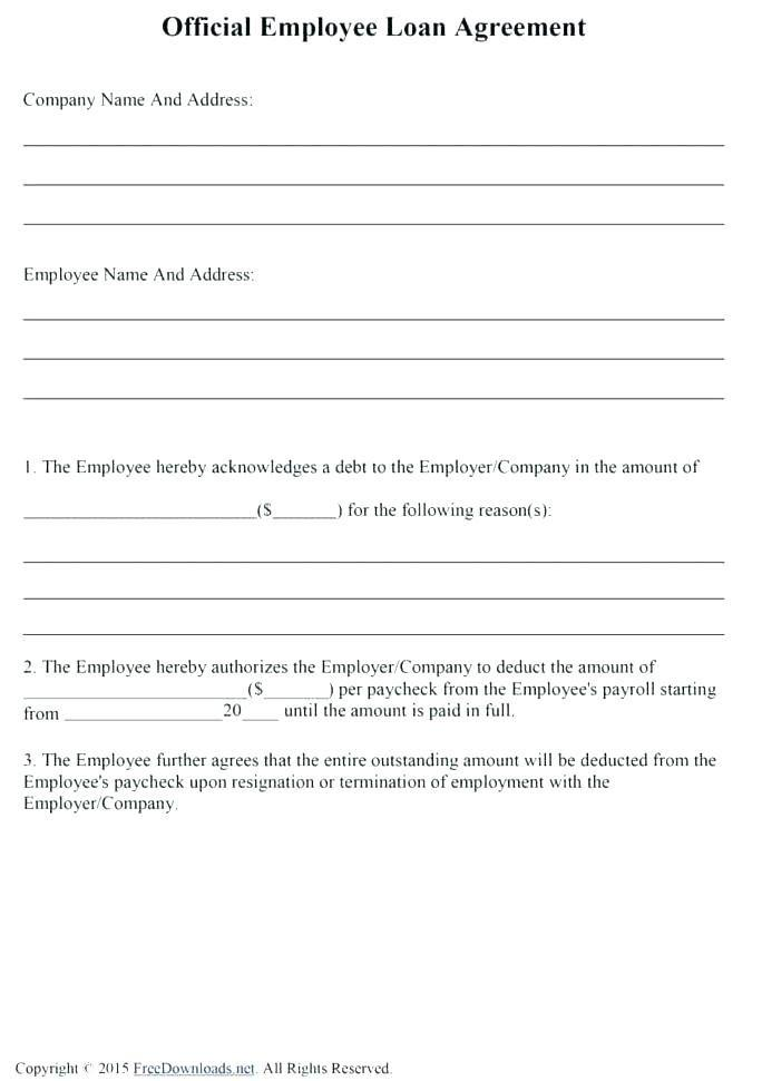 Employee Loan Repayment Template