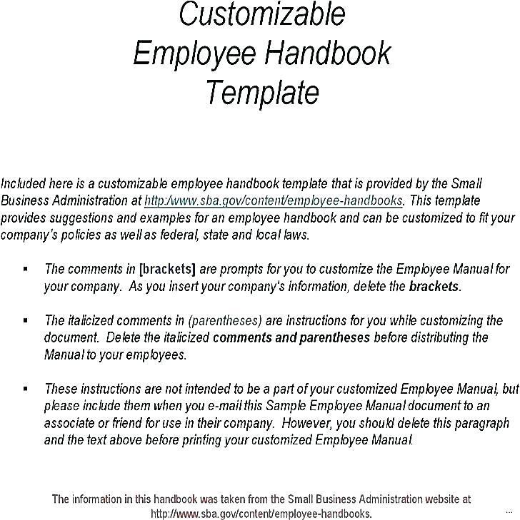 Employee Manual Sample India