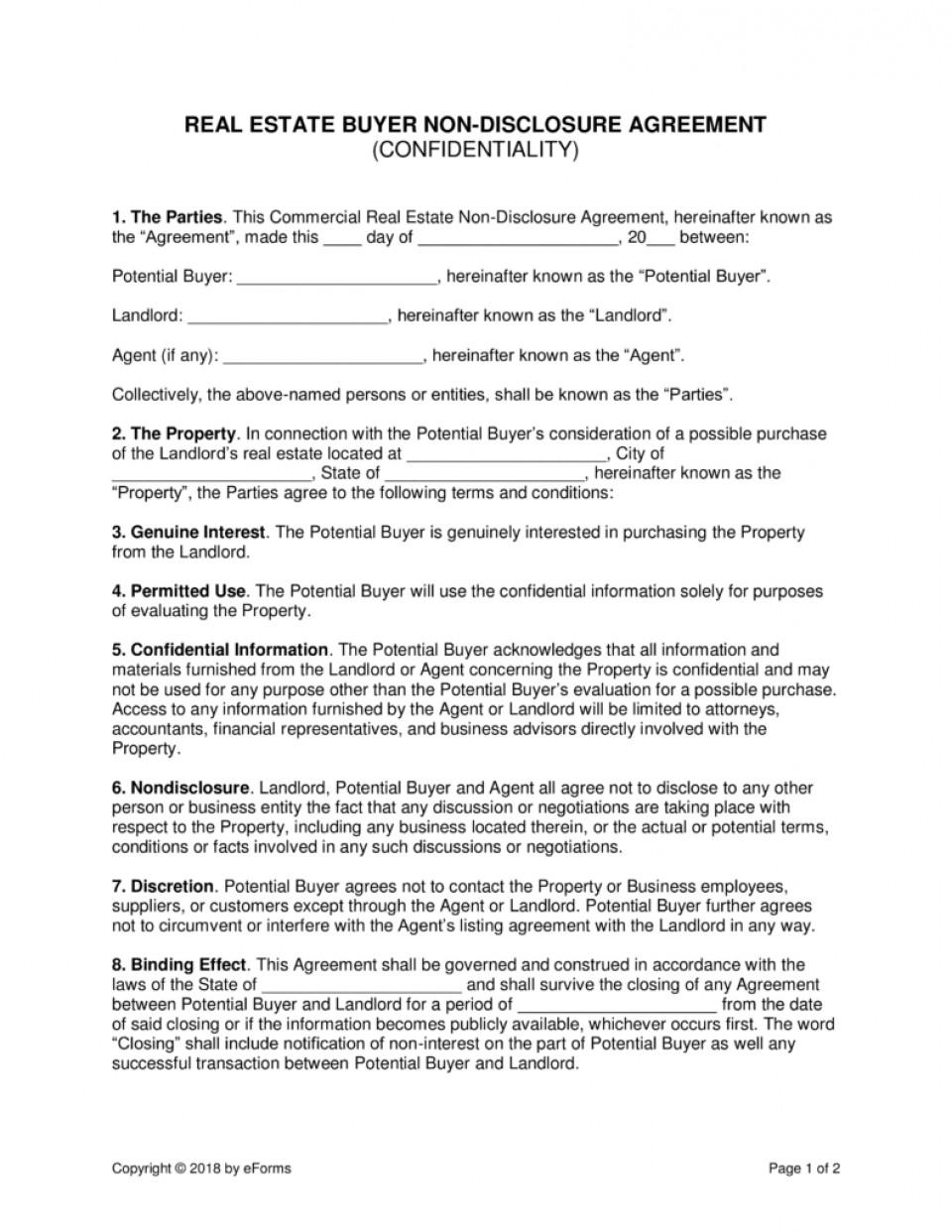 Employee Non Disclosure Agreement Template Australia