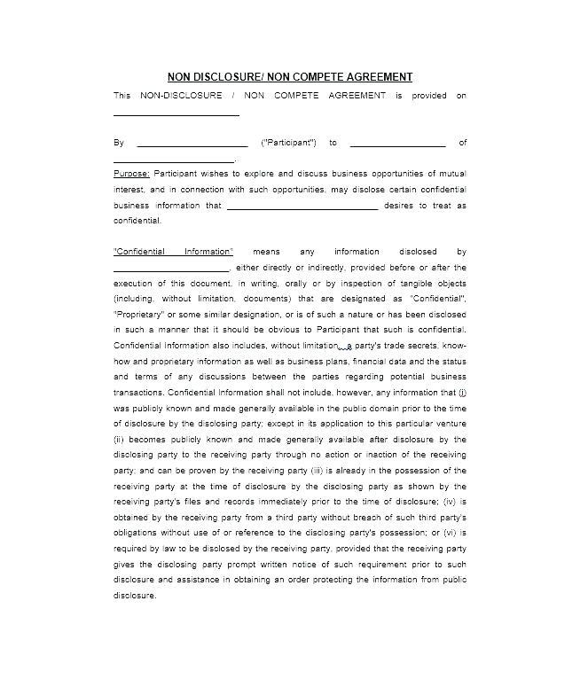 Employee Non Disclosure Agreement Template Uk
