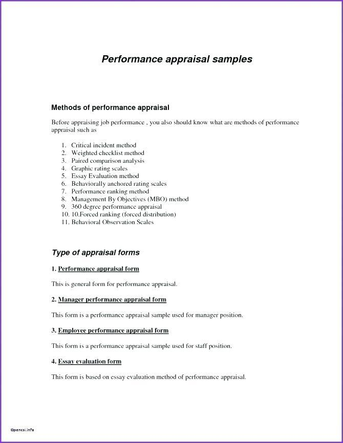 Employee Performance Checklist Template