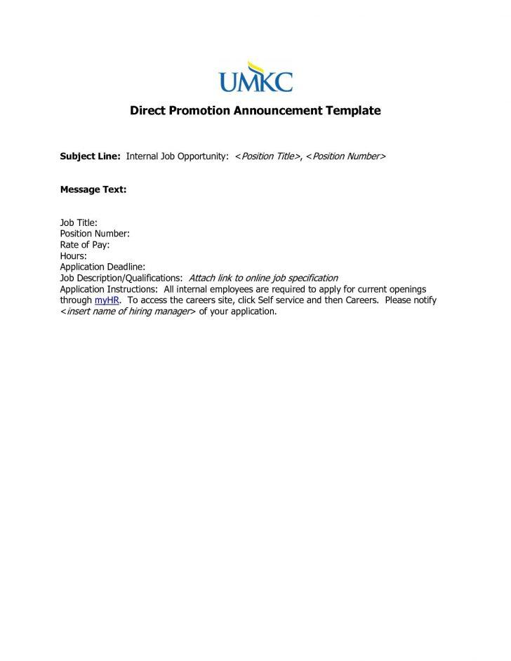 Employee Promotion Announcement Email Template
