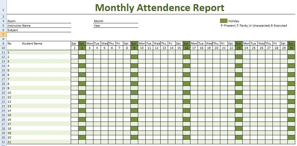 Employee Record Template Excel