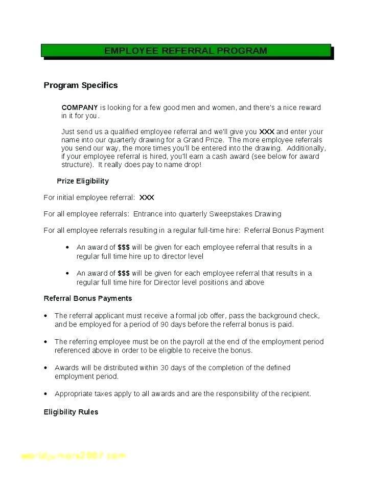 Employee Referral Program Samples