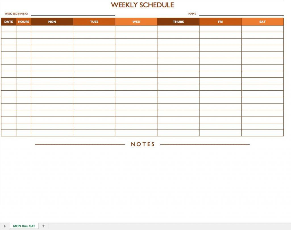 Employee Schedule Template Open Office