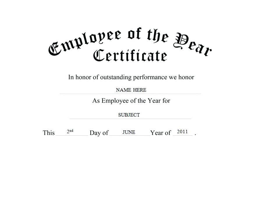 Employee Star Award Certificate Templates