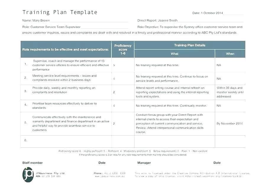 Employee Training Document Template