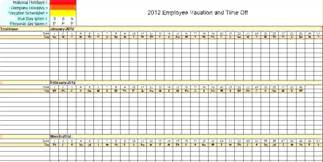 Employee Vacation Plan Template
