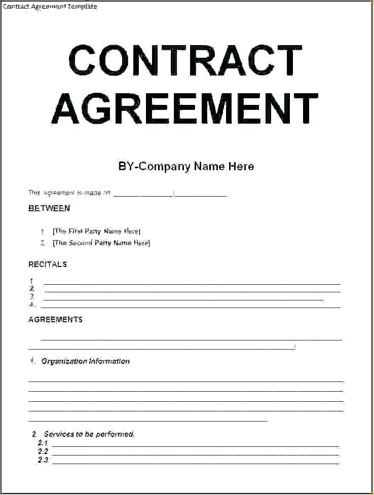 Employment Contract Form Doc