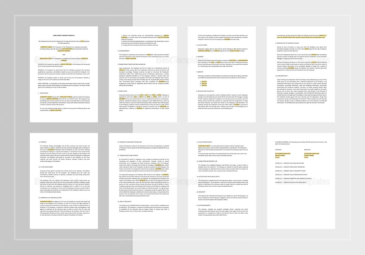 Employment Contract Google Docs Template