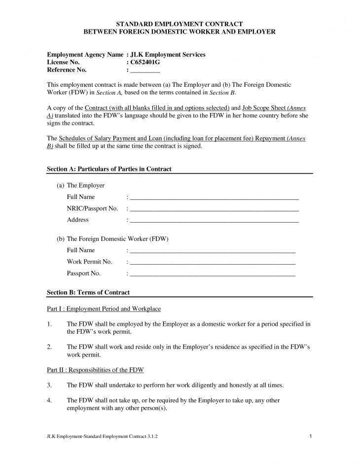 Employment Contracts Templates