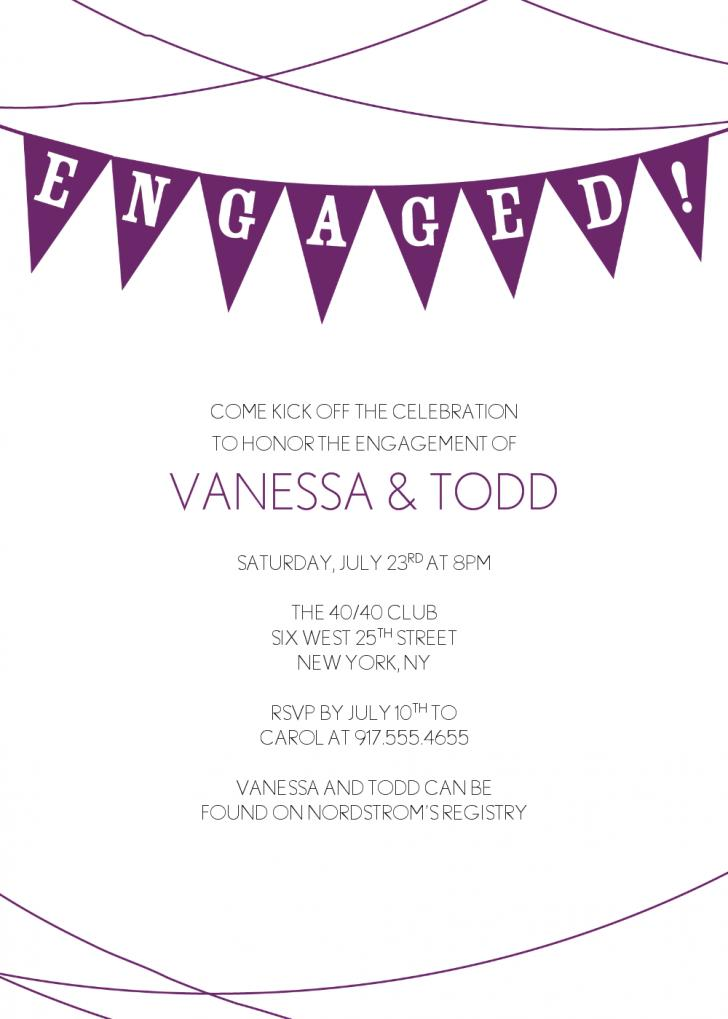 Engagement Invitation Templates Australia