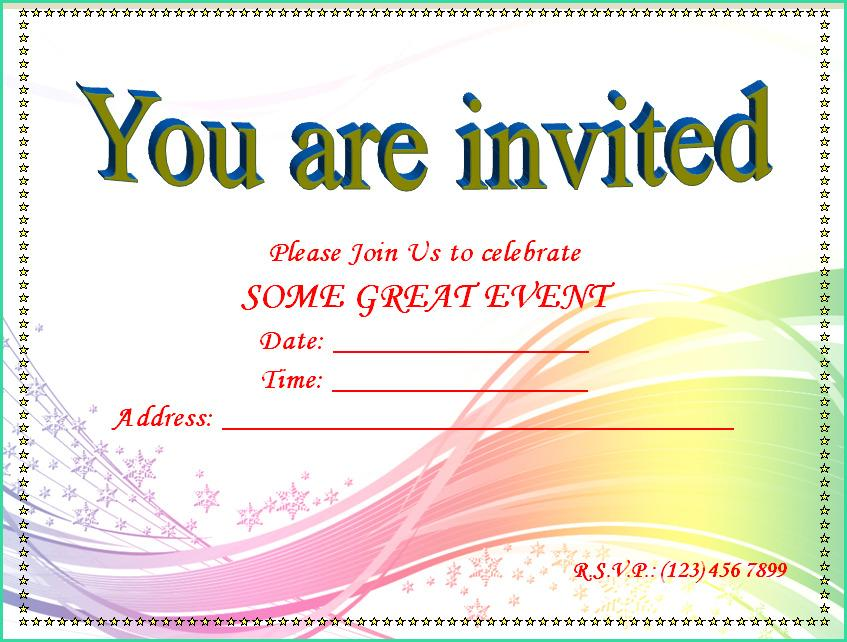 Engagement Invitation Templates For Microsoft Word