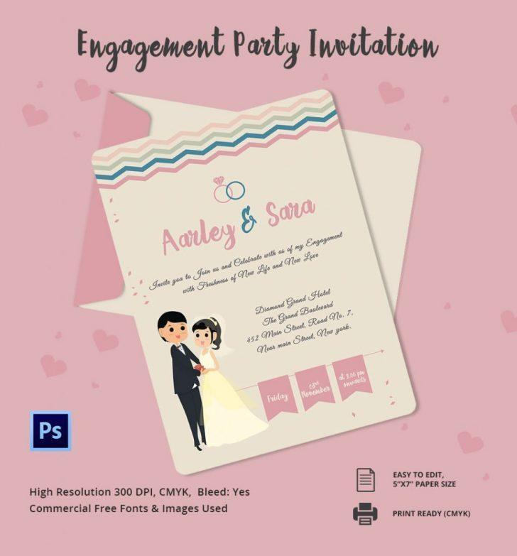 Engagement Invitation Templates Psd